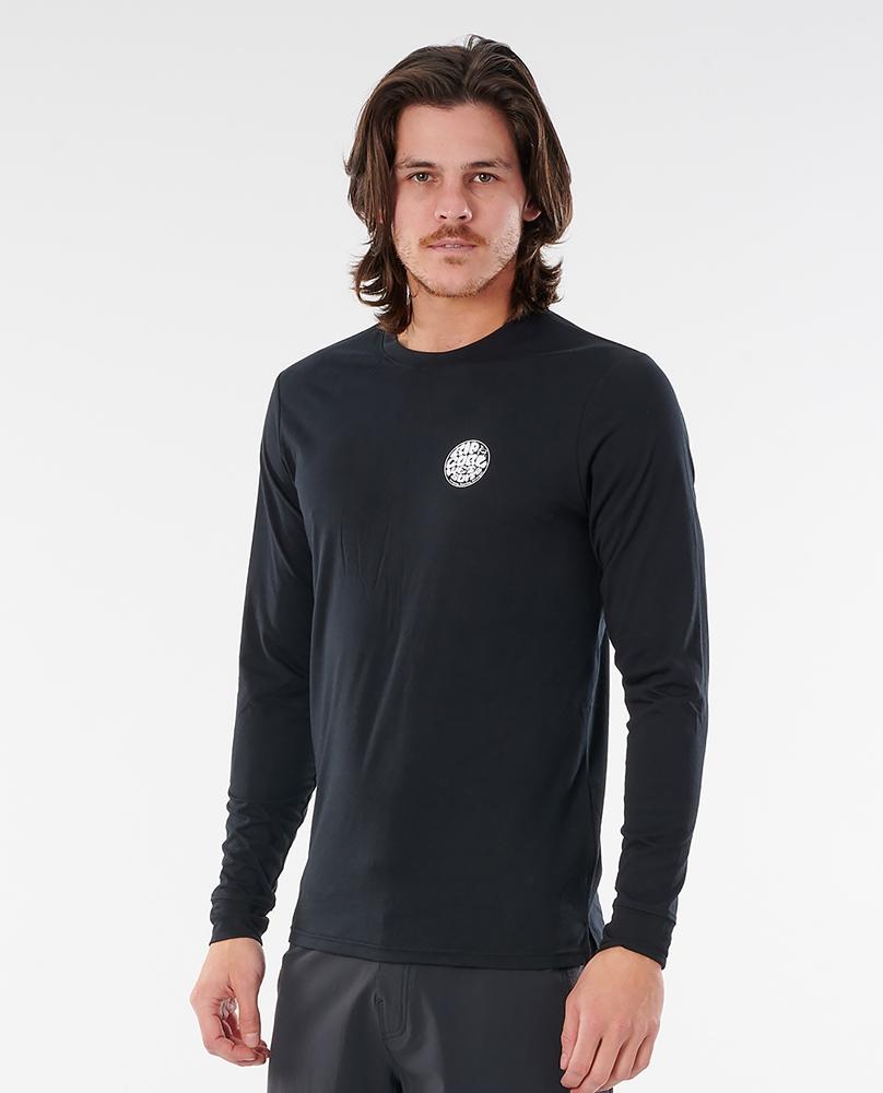 Rip Curl mns Rashguard Wettie Logo black Größe: S Schwarz: black