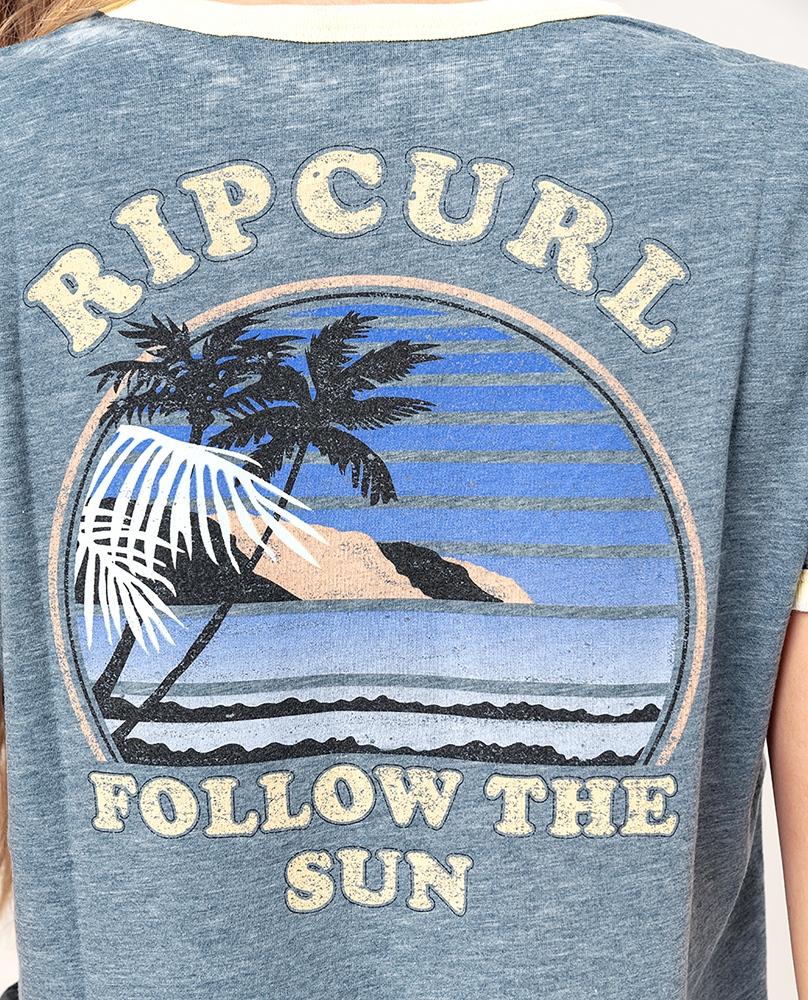 Rip Curl Golden State Ringer - navy Größe: M Farbe: navy