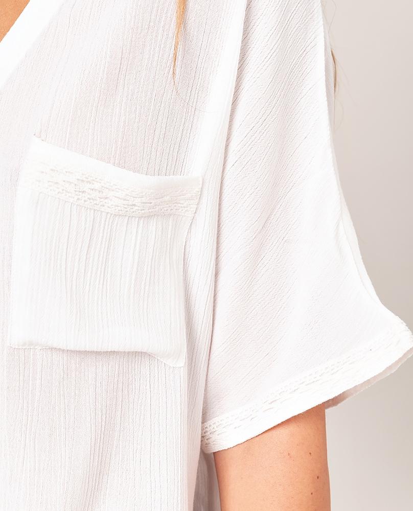 Rip Curl North Shore Shirt - white Größe: S Farbe: white