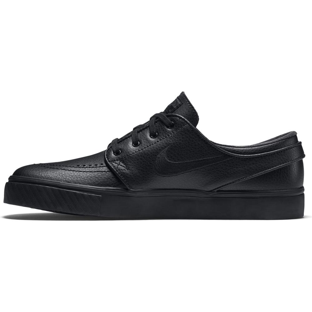 Nike SB Stefan Janoski Leather - black/black Größe: 4 Farbe: BlackBlack